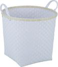 Korb Angie in Grau und Weiß - Weiß/Grau, Kunststoff (41/35cm)