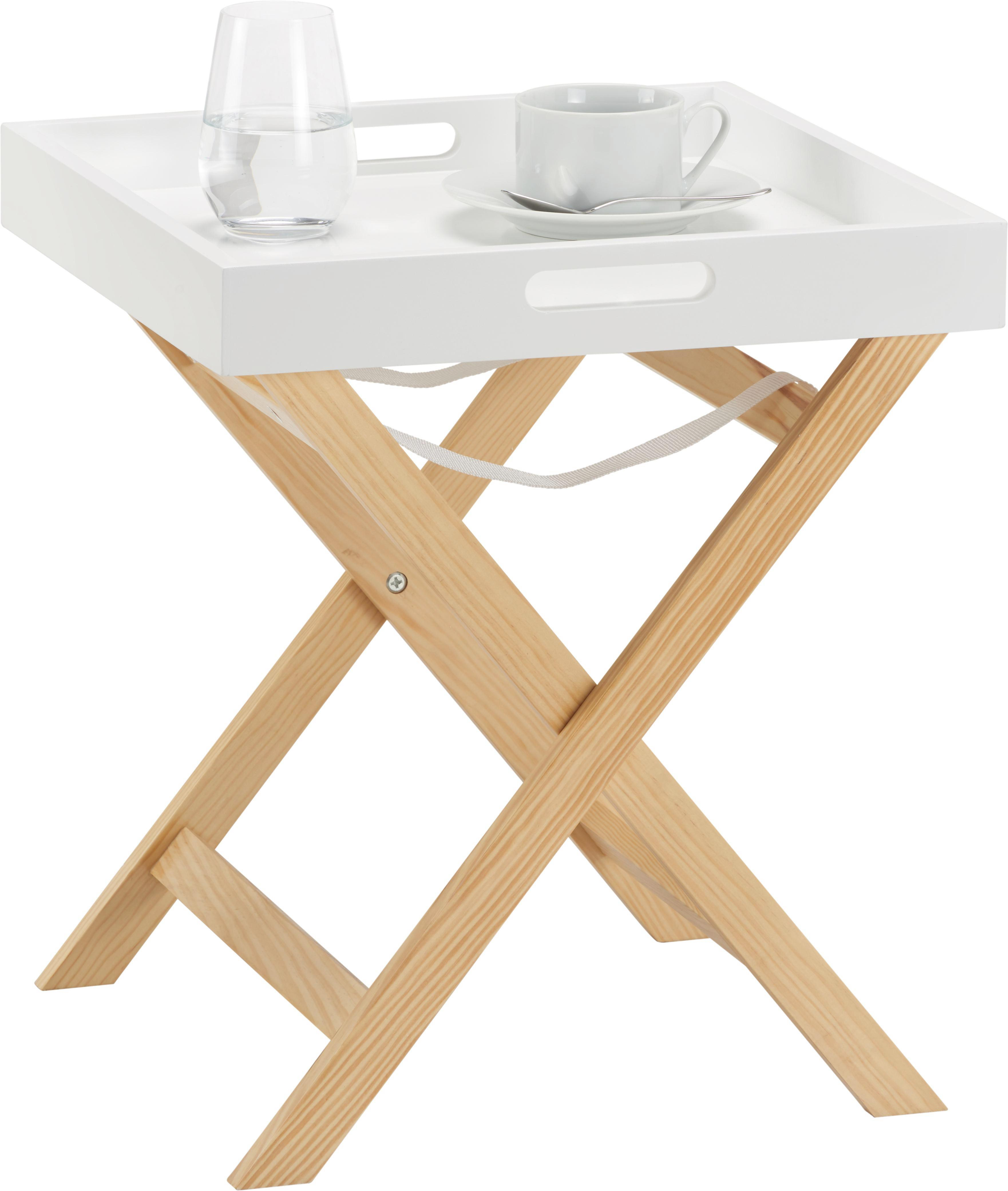 Beistelltisch Niels 40x40cm - Braun/Weiß, MODERN, Holz (40/46/40cm) - MÖMAX modern living