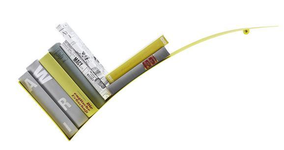 Wandregal in Gelb - Gelb, Metall (30/75/18cm) - MÖMAX modern living