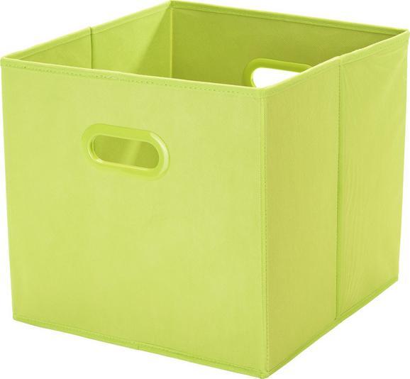 Aufbewahrungsbox Elli - Grün, KONVENTIONELL, Karton/Kunststoff (33/33/32cm) - Mömax modern living