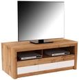 Tv-element Kashmir New - črna/hrast, Moderno, leseni material (142/50/49cm) - Zandiara