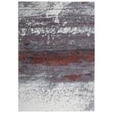 Webteppich Topas ca. 133x190cm - Hellgrau/Kupferfarben, MODERN (133/190cm)