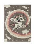 Kinderteppich Unicorn Bunt 100x150cm - Multicolor, Textil (100/150cm) - Mömax modern living