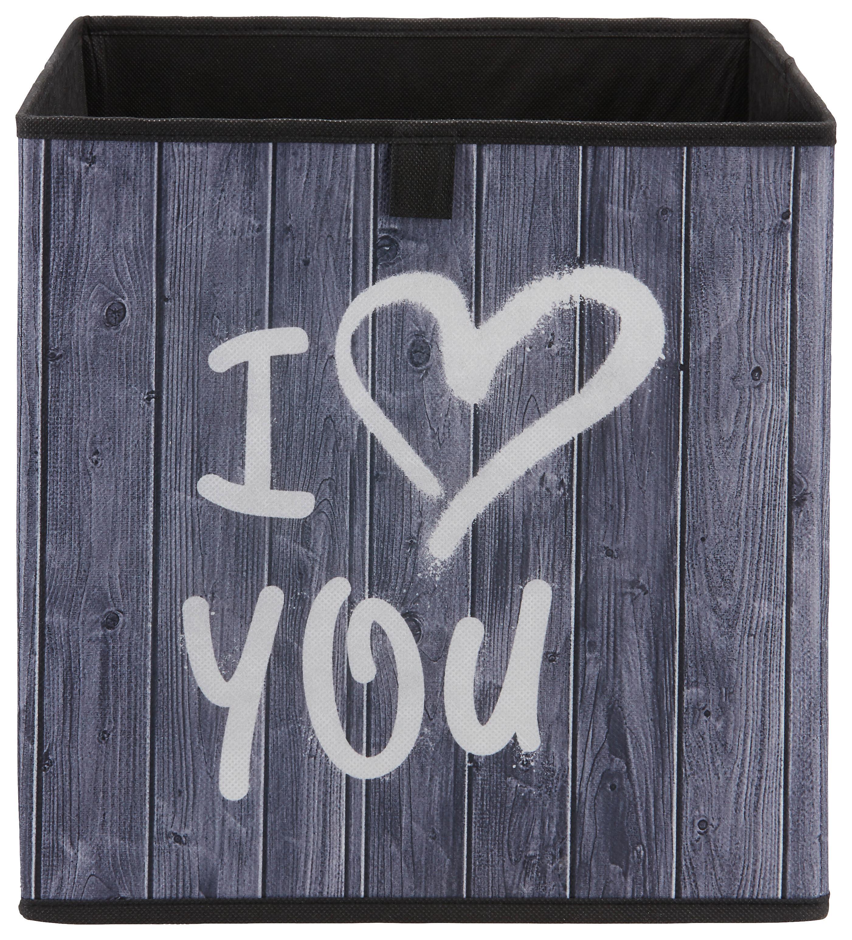 Image of Aufbewahrungsbox Poppi mit Schriftzug