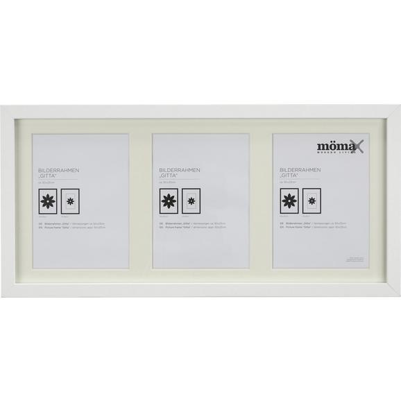Bilderrahmen Gitta Weiß ca. 23x50cm - Weiß, MODERN, Glas/Holzwerkstoff (23/50cm) - Mömax modern living