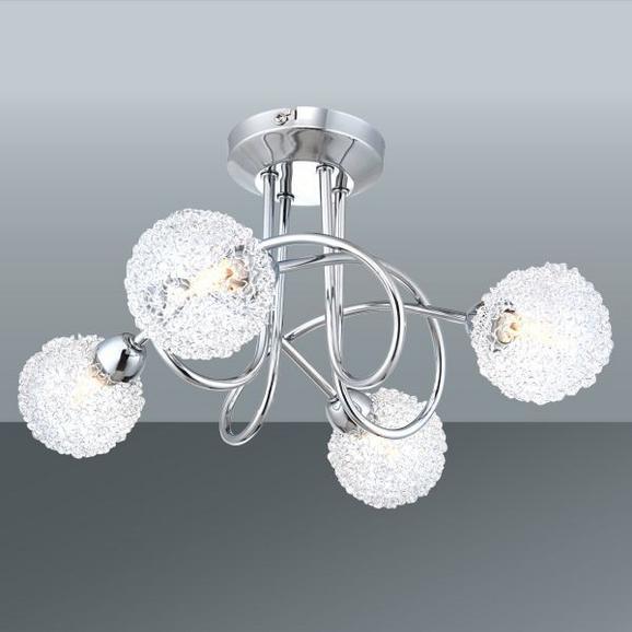Deckenleuchte Mia, max. 4x33 Watt - Chromfarben, MODERN, Glas/Metall (36/19cm) - Mömax modern living