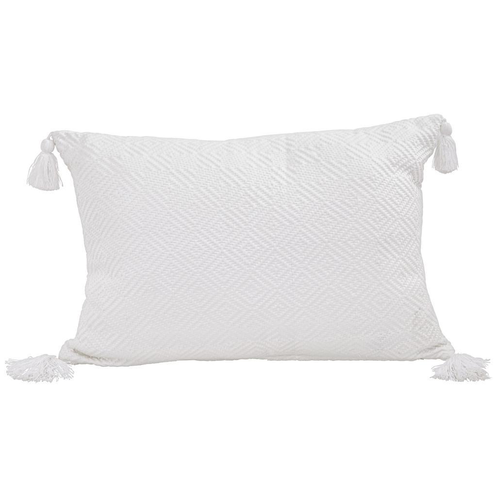 Zierkissen Frieda in Weiß ca. 40x60cm