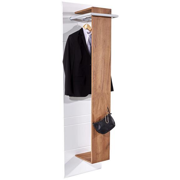 Garderobni Panel Avensis - bela/hrast, Moderno, leseni material (49,5/195,7/37cm) - Mömax modern living