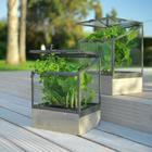 Üvegház Peter - alu színű, romantikus/Landhaus, üveg/fa (20/17/27cm)