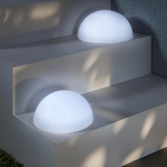 Solarleuchte Bowle, max. 0,06 Watt - Weiß, Kunststoff (20cm) - MÖMAX modern living