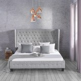 Polsterbett Jean Claude 180x200cm - Grau, Holz/Textil (213,5/200/139cm) - Mömax modern living