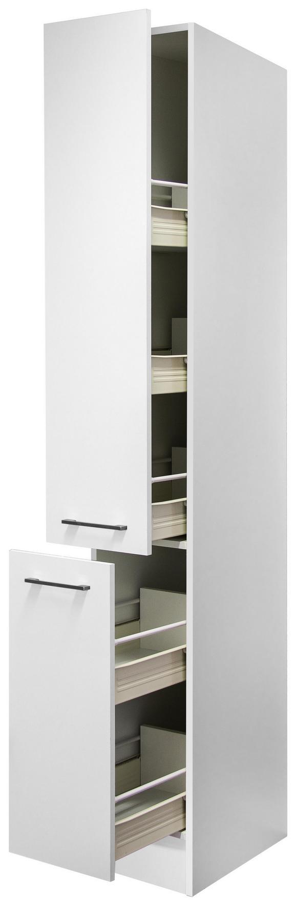 Apothekerschrank Weiß - Edelstahlfarben/Weiß, MODERN, Holzwerkstoff/Metall (30/200/57cm)
