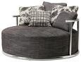 Sofa Grau - Edelstahlfarben/Grau, LIFESTYLE, Textil/Metall (141/82/141cm) - Premium Living