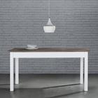 Tisch Cookie ca.160x80cm - Weiß/Kieferfarben, Holz (160/80/80cm) - Premium Living
