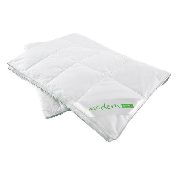 Kazettás Paplan Könnyű - Fehér, Textil (135/200cm) - Nadana