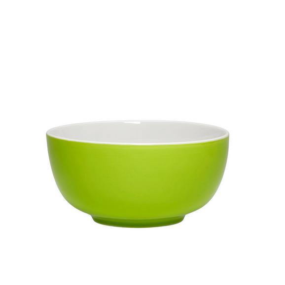 Müslischale Sandy in Grün aus Keramik - Grün, KONVENTIONELL, Keramik (13,7/6,6cm) - Mömax modern living