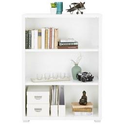 Regal in Weiß - Silberfarben/Weiß, MODERN, Holzwerkstoff (80/112/36cm)