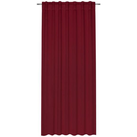 Zatemnitvena Zavesa Riccardo - vinsko rdeča, Moderno, tekstil (140/245cm) - Premium Living