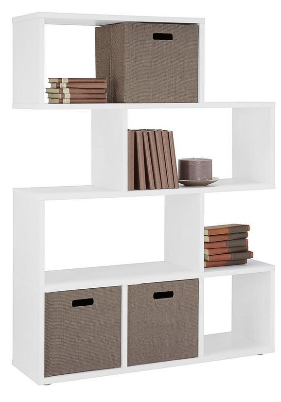 Predelna Stena Cassa - bela, Moderno, kovina/umetna masa (110/148/33cm)