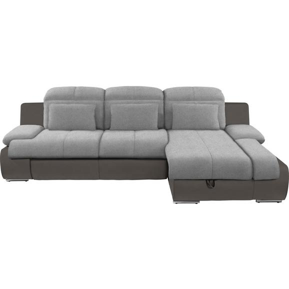 Kutna Garnitura L-oblika Multi 260x184 Cm - siva/tamno siva, Modern, tekstil/metal (260/184cm) - Modern Living