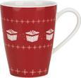 Kaffeebecher Vivo - Rot/Weiß, KONVENTIONELL, Keramik - Vivo