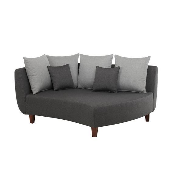 Sedežni Element Jolina - temno siva/siva, Moderno, tekstil/les (170/102/138cm) - Modern Living