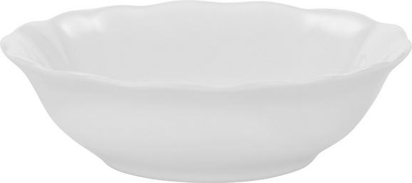 SCHALE Pauline Weiß - Weiß, ROMANTIK / LANDHAUS, Keramik (15cm) - Zandiara