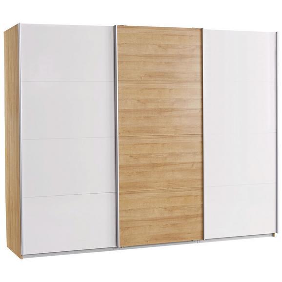 Omara Z Drsnimi Vrati Leoben - aluminij/siva, Moderno, kovina/leseni material (271/210/62cm) - Mömax modern living