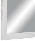 Stensko Ogledalo Old-white-heav - bela/rjava, Moderno, steklo/leseni material (50/70cm)