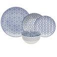 Serviciu De Masă Blue Chic - albastru/alb, Lifestyle, ceramică - Premium Living