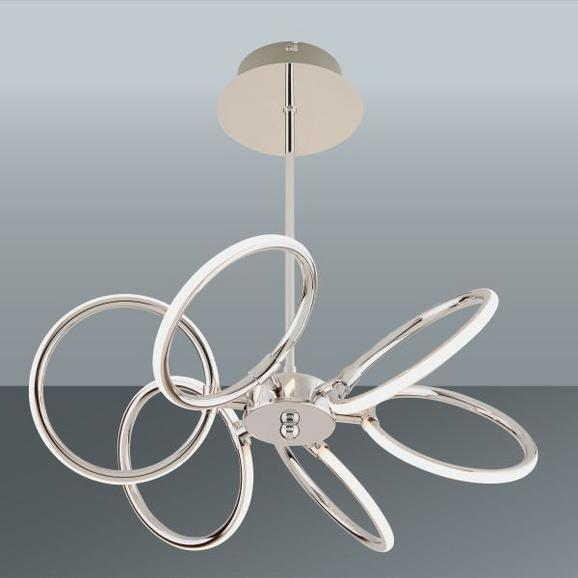 LED-Deckenleuchte Alisia, max. 6x5 Watt - Chromfarben, MODERN, Kunststoff/Metall (46,2/44,5cm) - INSIDO