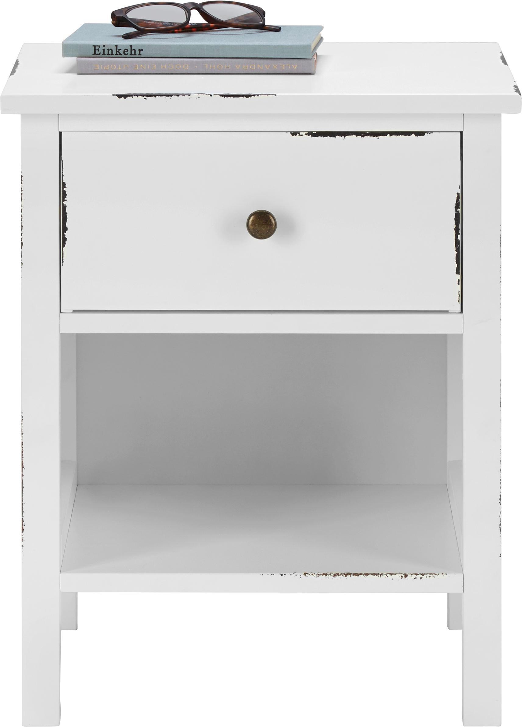Nachtkästchen Marley - Weiß, MODERN, Holz (40/50/35cm) - MÖMAX modern living
