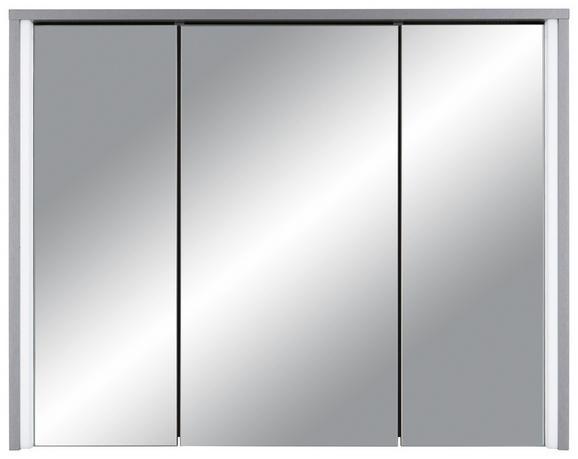 Spiegelschrank Titan - Titanfarben, MODERN, Glas/Holzwerkstoff (86/68/18cm)