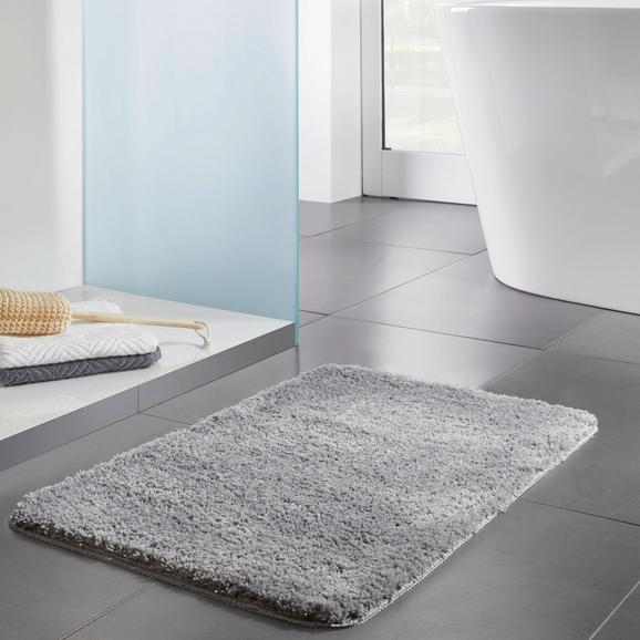 Mikrofaserbadematte Solo 50x80cm - Hellgrau, MODERN, Textil (50/80cm) - Modern Living
