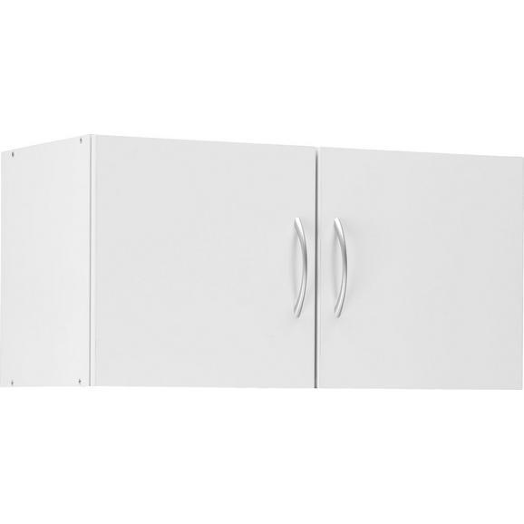Aufsatzschrank in Weiß - Alufarben/Weiß, Holzwerkstoff/Kunststoff (80/40/40cm) - Mömax modern living