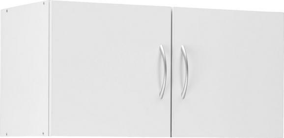 Aufsatzschrank Weiß - Alufarben/Weiß, Holzwerkstoff/Kunststoff (80/40/40cm) - Mömax modern living
