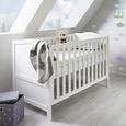 Babybett Lilo mit abnehmbarem Gitter - Weiß, MODERN, Holz (145/100/80cm) - Bessagi Kids