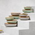 Schüssel Anabel Mint M mit Deckel - Naturfarben/Grün, Natur, Holz/Holzwerkstoff (20,5/6,1cm) - Zandiara