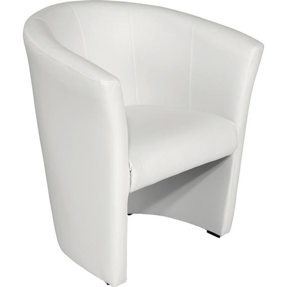 Fotelj Hugo - črna/bela, Basics, umetna masa/tekstil (69/76/59cm) - Mömax modern living