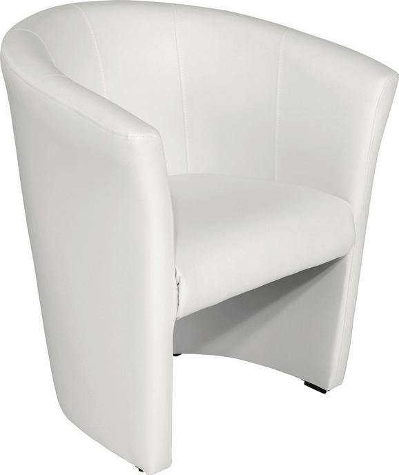 Fotelj Hugo - črna/bela, Moderno, umetna masa/tekstil (69/76/59cm) - Mömax modern living