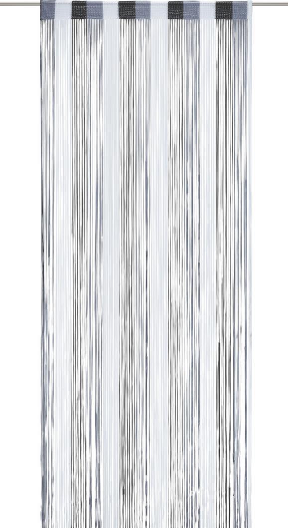 Zsinórfüggöny String - fekete/antracit, textil (90/245cm) - premium living