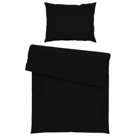 Lenjerie De Pat Iris - negru, textil (140/200cm) - Mömax modern living