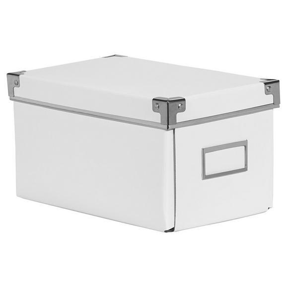 CD-/DVD-Box Lorenz Weiß, Faltbar - Weiß, Karton/Metall (26/15,5/14cm) - Mömax modern living