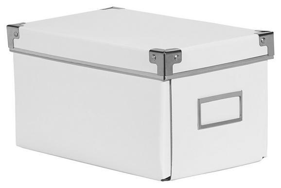 Škatla Za Cd-je/dvd-je Lorenz - Cd -ext- - bela, kovina/karton (26/15,5/14cm) - Mömax modern living