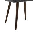 Stuhl Nicola - Dunkelgrau/Dunkelbraun, MODERN, Holz/Textil (58/82,5/61,5cm) - Bessagi Home