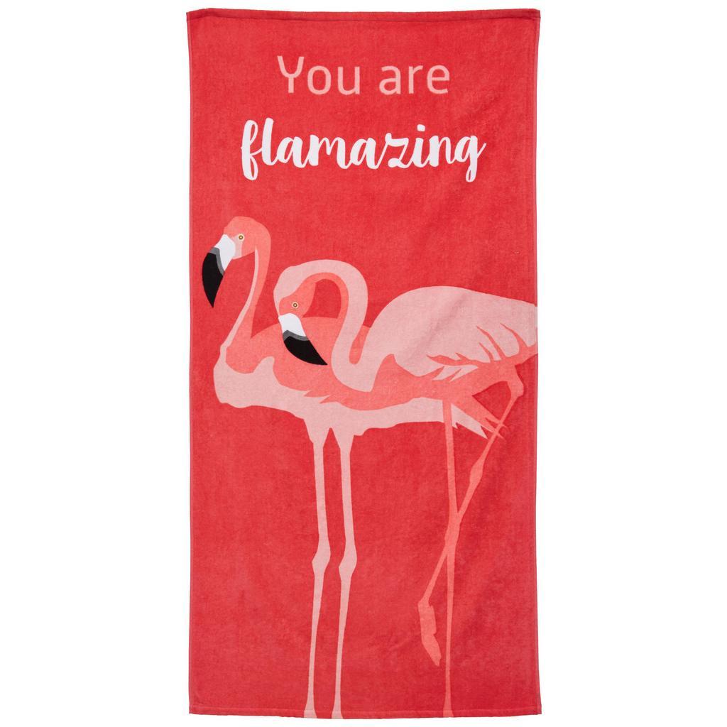 Strandtuch Flamingo Couple 80×160 cm