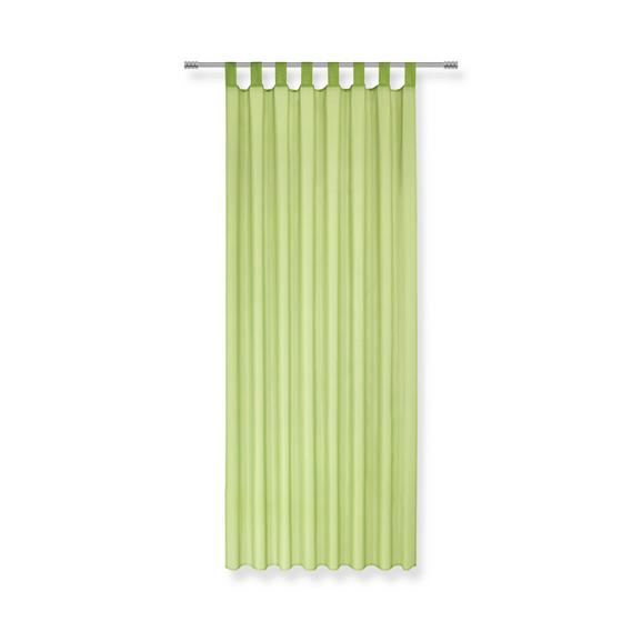 Perdea Cu Bride Hanna - Verde, Material textil (140/245cm) - Based