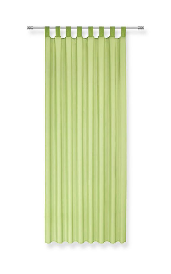 Schlaufenvorhang Hanna in Grün, ca. 140x245cm - Grün, Textil (140/245cm) - BASED