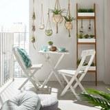 Balkon Szett Stacy Antik - fehér, fa (58/73/58cm) - MÖMAX modern living