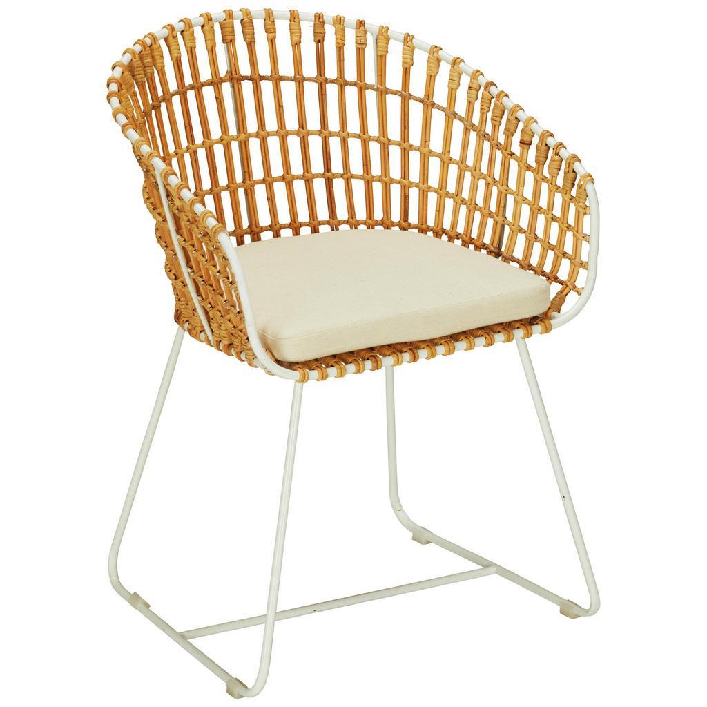 Stuhl Natur/Weiß